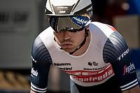 Emīls Liepins (LVA/Trek - Segafredo) off the start ramp for the iTT<br /> <br /> 91st Baloise Belgium Tour 2021 (BEL/2.Pro)<br /> Stage 2 (ITT) from Knokke-Heist to Knokke-Heist (11.2km)<br /> <br /> ©kramon
