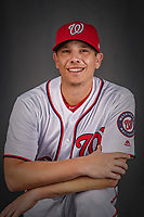 22 February 2019: Washington Nationals pitcher Jeremy Hellickson poses for his Photo Day portrait at the Ballpark of the Palm Beaches in West Palm Beach, Florida. Mandatory Credit: Ed Wolfstein Photo *** RAW (NEF) Image File Available ***