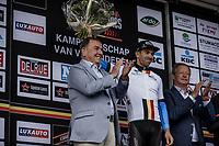 Sean De Bie (BEL/Veranda's Willems - Crelan) is the new leader in the Napoleon Games Cycling Cup Ranking. <br /> <br /> 103th Kampioenschap van Vlaanderen 2018 (UCI 1.1)<br /> Koolskamp – Koolskamp (186km)