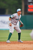 Daytona Tortugas shortstop Luis Gonzalez (7) during a game against the Florida Fire Frogs on April 7, 2018 at Osceola County Stadium in Kissimmee, Florida.  Daytona defeated Florida 4-3 in a six inning rain shortened game.  (Mike Janes/Four Seam Images)