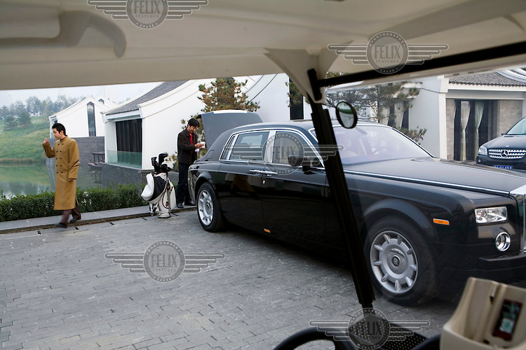 A member's car outside Bayhood 9, a private golf club with a host of 'lifestyle' services, which recently opened and has been rated as one of the best clubs in China.