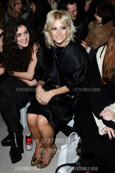 Pixie Lott at the PPQ show as part of London Fashion Week 2012 A/W at Somerset House, London. 17/02/2012 Picture by: Steve Vas / Featureflash