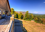 The deck at Stone Mountain Vineyards overhangs and overlooks the valley, affording spectacular sweeping views. (HDR image)