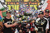 Monster Energy NASCAR Cup Series<br /> Tales of the Turtles 400<br /> Chicagoland Speedway, Joliet, IL USA<br /> Sunday 17 September 2017<br /> Cole Pearn and Martin Truex Jr, Furniture Row Racing, Furniture Row/Denver Mattress Toyota Camry celebrate in victory lane <br /> World Copyright: Logan Whitton<br /> LAT Images