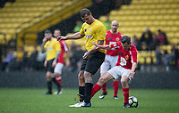 Dan Osborne & Derek Payne during the Sellebrity Soccer - Celebrity & legends football match with profits going to Watford Community sports & education trust at Vicarage Road, Watford, England on 12 May 2018. Photo by Andy Rowland.