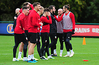 Gareth Bale of Wales in action during the Wales Training Session at The Vale Resort in Cardiff, Wales, UK. Saturday 12 October 2019