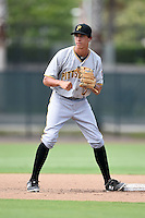 GCL Pirates shortstop Cole Tucker (17) during practice before a game against the GCL Phillies on June 26, 2014 at the Carpenter Complex in Clearwater, Florida.  GCL Phillies defeated the GCL Pirates 6-2.  (Mike Janes/Four Seam Images)