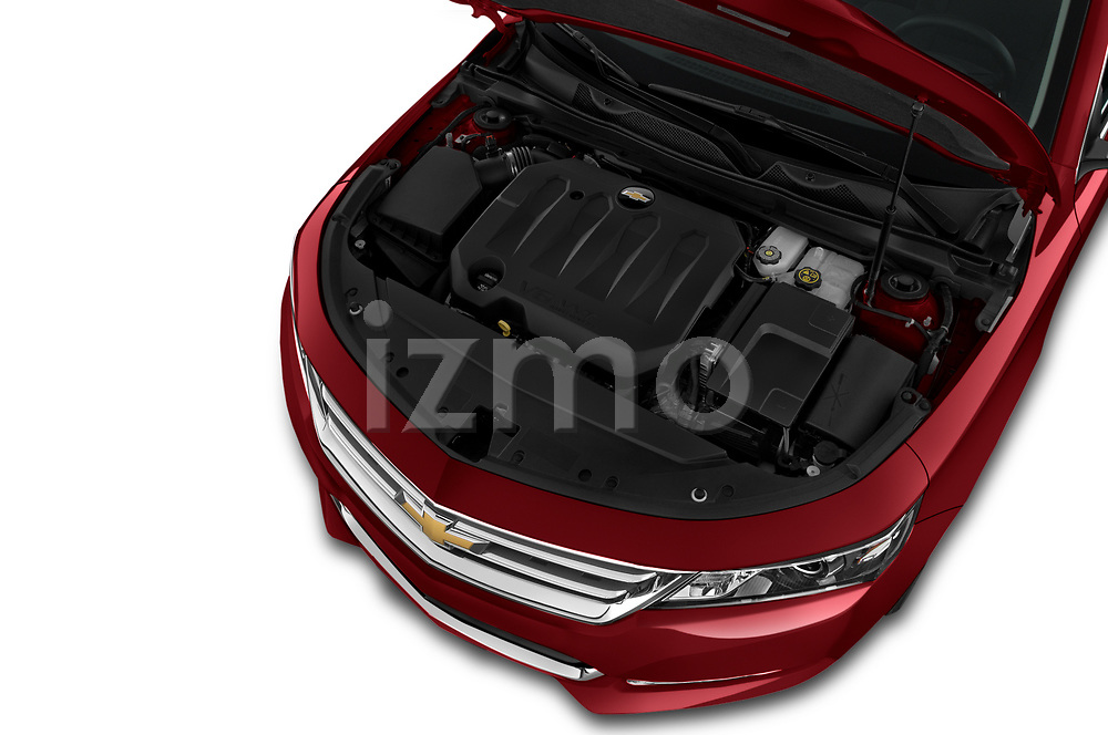 Car Stock 2020 Chevrolet Impala Premier 4 Door Sedan Engine  high angle detail view