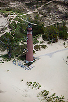 aerial photograph Little Sable Point Light lighthouse, Silver Lake State Park, Lake Michigan, Michigan