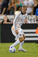 Los Angeles Galaxy midfielder David Beckham (23) controls the ball during the game. DC United defeated the Los Angeles Galaxy 1-0 at RFK Stadium in Washington DC, Thursday August 9, 2007.