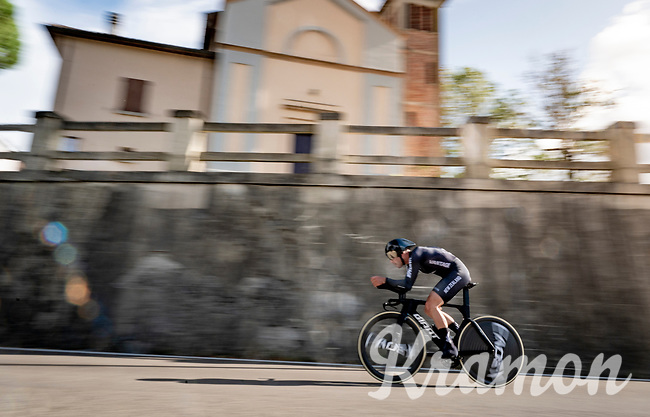 Patrick Bevin (NZL)<br /> <br /> Men's Elite Time trial from Imola to Imola (31.7km)<br /> <br /> 87th UCI Road World Championships 2020 - ITT (WC)<br /> <br /> ©kramon