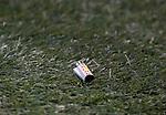 06.02.2019:Aberdeen v Rangers: Lighter thrown towards Borna Barisic at the corner flag