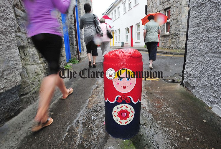 One of the Wall Candy artworks at Barrack St in Ennis. Photograph by Declan Monaghan