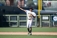 Surprise Saguaros shortstop Cole Tucker (2), of the Pittsburgh Pirates organization, throws to first base during an Arizona Fall League game against the Salt River Rafters on October 9, 2018 at Surprise Stadium in Surprise, Arizona. Salt River defeated Surprise 10-8. (Zachary Lucy/Four Seam Images)