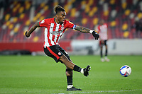 Ivan Toney of Brentford takes a shot at the Rotherham goal during Brentford vs Rotherham United, Sky Bet EFL Championship Football at the Brentford Community Stadium on 27th April 2021