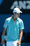 Kei Nishikori (JPN) loses at Australian Open in Melbourne Australia on 20th January 2013