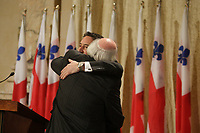 Presentation of Montreal City New Executive Committee under Mayor Michael Applebaum (L) who was later arrested on charges of corruption and Laurent Blanchard (R) who took over as interim Mayor, on November 22, 2012<br /> <br /> File Photo : Agence Quebec Presse