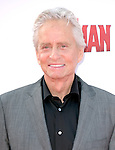 """Michael Douglas attends The Premiere Of Marvel's """"Ant-Man"""" held at The Dolby Theatre  in Hollywood, California on June 29,2015                                                                               © 2015 Hollywood Press Agency"""