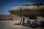 Irak, Juli 2014 - Militaerflugplatz von Kirkuk. Alte Militaerflugzeuge aus sowjetzeiten.<br /> <br /> Engl.: Asia, Iraq, conflict area, military airfield of Kirkuk, old Soviet aircrafts, June 2014