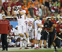 STANFORD, CA - January 2, 2012: Stanford wide receiver Griff Whalen (17) against Oklahoma State at the Fiesta Bowl at University of Phoenix Stadium in Phoenix, AZ. Final score Oklahoma State wins 41-38.