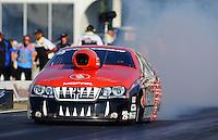 May 4, 2012; Commerce, GA, USA: NHRA pro stock driver V. Gaines during qualifying for the Southern Nationals at Atlanta Dragway. Mandatory Credit: Mark J. Rebilas-