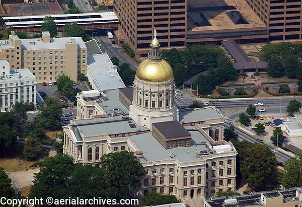 aerial photograph of the Georgia State Capitol building, Atlanta, Georgia
