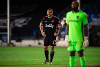 LAKE BUENA VISTA, FL - JULY 27: Jordan Morris #13 of the Seattle Sounders waiting on the corner kick during a game between Seattle Sounders FC and Los Angeles FC at ESPN Wide World of Sports on July 27, 2020 in Lake Buena Vista, Florida.