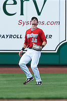 Fort Wayne TinCaps outfielder Kyle Gaedele #33 during a Midwest League game against the Dayton Dragons at Parkview Field on August 19, 2012 in Fort Wayne, Indiana.  Dayton defeated Fort Wayne 5-1.  (Mike Janes/Four Seam Images)