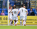 St Johnstone v Inverness Caley Thistle...08.08.15...SPFL..McDiarmid Park, Perth.<br /> Ryan Christie celebrates his goal with Daniel Williams<br /> Picture by Graeme Hart.<br /> Copyright Perthshire Picture Agency<br /> Tel: 01738 623350  Mobile: 07990 594431
