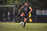 OHL's midfielder Lenie Onzia (18) pictured during a female soccer game between  Racing Genk Ladies and Oud Heverlee Leuven on the fourth matchday of the 2020 - 2021 season of Belgian Scooore Womens Super League , friday 9 th of October 2020  in Genk , Belgium . PHOTO SPORTPIX.BE | SPP | STIJN AUDOOREN