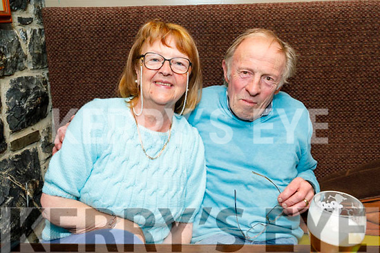 Eileen O'Connor from Tralee and Peter McSweeney enjoying the evening in the Brogue Inn on Saturday.