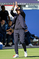 Sinisa Mihajlovic Coach of Bologna FC greets Lazio supporters during the Serie A football match between Bologna FC and SS Lazio at Renato Dall'Ara stadium in Bologna (Italy), October 3rd, 2021. Photo Andrea Staccioli / Insidefoto