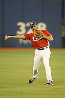 March 7, 2009:  Left fielder - third baseman Mark DeRosa (7) of Team USA during the first round of the World Baseball Classic at the Rogers Centre in Toronto, Ontario, Canada.  Team USA defeated Canada 6-5 in both teams opening game of the tournament.  Photo by:  Mike Janes/Four Seam Images