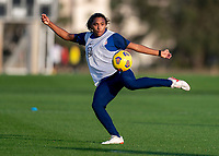 ORLANDO, FL - JANUARY 21: Catarina Macario #29 of the USWNT takes a shot during a training session at the practice fields on January 21, 2021 in Orlando, Florida.