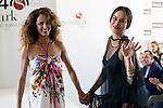 Monica Estarreado and Mireia Canalda during Senmark 40th. Aniversary Fashion Show at Circulo de Bellas Artes in Madrid, Ocotber 15, 2015.<br /> (ALTERPHOTOS/BorjaB.Hojas)