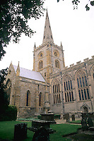 William Shakespeare's church Holy Trinity Stratford Upon Avon England