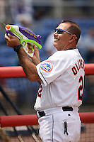 July 7th 2008:  Manager Mako Oliveras of the Binghamton Mets, Class-AA affiliate of the New York Mets, during a game at NYSEG Stadium in Binghamton, NY.  Photo by:  Mike Janes/Four Seam Images