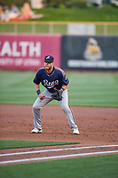 Seth Beer (8) of the Reno Aces on defense against the Salt Lake Bees at Smith's Ballpark on August 24, 2021 in Salt Lake City, Utah. The Aces defeated the Bees 6-5. (Stephen Smith/Four Seam Images)