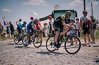 Mathew Hayman (AUS/Mitchelton-Scott) at the end of pavé sector #9<br /> <br /> Stage 9: Arras Citadelle > Roubaix (154km)<br /> <br /> 105th Tour de France 2018<br /> ©kramon