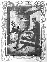 BNPS.co.uk (01202) 558833.<br /> Pic: JanBondeson/HistoryPress/BNPS<br /> <br /> Pictured: Arthur Marshall fleeing the murder scene.<br /> <br /> A historian believes he has solved the gruesome 124 year old murder of a barmaid on a London train.<br /> <br /> Elizabeth Camp was travelling to Waterloo station when she was murdered on February 11, 1897.<br /> <br /> The 33 year old's battered body was found by a carriage cleaner with her head wedged underneath a seat and her legs outstretched on the floor.<br /> <br /> Over a century later, historian Dr Jan Bondeson has pored over the evidence in the case, including police files, to try and identify her killer.<br /> <br /> He believes the person responsible for her brutal death was 25 year old Arthur Marshall, the son of a Reading publican, and has outlined his theory in his new book, Rivals of the Ripper.