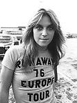 Runaways 1976 Sandy West..Photo by Chris Walter/Photofeatures..