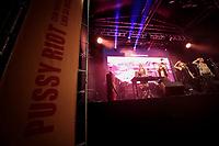 Sao Paulo (SP), 30/01/2020 - Pussy Riot - A banda russa Pussy Riot, famosa por suas apresentacoes com fortes criticas politicas e sexistas, se apresenta na noite desta quinta-feira (30) no Centro Cultural Sao Paulo, zona sul da capital. A cantora paulista, Linn da Quebrada, faz participacao especial. O show faz parte do Festival Verao Sem Censura, promovido pela Prefeitura de Sao Paulo. (Foto: Ale Frata/Codigo 19/Codigo 19)