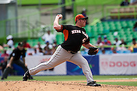 7 March 2009: #47 Sidney Ponson of the Netherlands pitches against the Dominican Republic during the 2009 World Baseball Classic Pool D match at Hiram Bithorn Stadium in San Juan, Puerto Rico. Netherlands pulled off a huge upset in their World Baseball Classic opener with a 3-2 victory over Dominican Republic.
