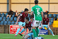 Jake Hegarty of Cobh Ramblers scores the first goal for the team.<br /> <br /> Cobh Ramblers v Cork City, SSE Airtricity League Division 1, 28/5/21, St. Colman's Park, Cobh.<br /> <br /> Copyright Steve Alfred 2021.