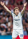 Luka Modric of Real Madrid reacts during their 2016-17 UEFA Champions League Quarter-finals second leg match between Real Madrid and FC Bayern Munich at the Estadio Santiago Bernabeu on 18 April 2017 in Madrid, Spain. Photo by Diego Gonzalez Souto / Power Sport Images