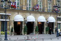 "The Ritz, Paris, hotel, France, Europe, """"The Ritz"""" Hotel at the Place Vendome in downtown Paris."