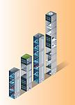 Illustrative image of building blocks in a row representing bar graph