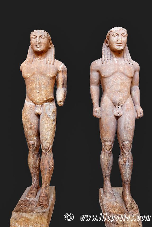 Marble Kouroi (580 B.C.) in Delphi museum, Greece