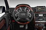 Mercedes SUV G Class Steering wheel view of 2013 G550 Stock Photo
