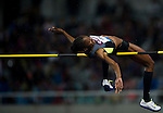 SHANGHAI, CHINA - MAY 19: Chaunte Lowe of USA competes to win the Women High Jump during the Samsung Diamond League on May 19, 2012 at the Shanghai Stadium in Shanghai, China.  Photo by Victor Fraile / The Power of Sport Images